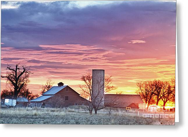 Early Morning Sun Greeting Cards - Colorado Country Morning Sunrise Greeting Card by James BO  Insogna