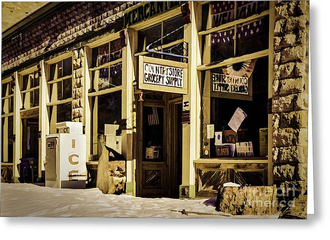Main Street Greeting Cards - Colorado Country Store Greeting Card by Janice Rae Pariza