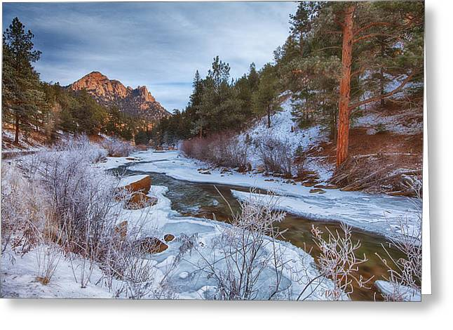 Crisp Greeting Cards - Colorado Creek Greeting Card by Darren  White