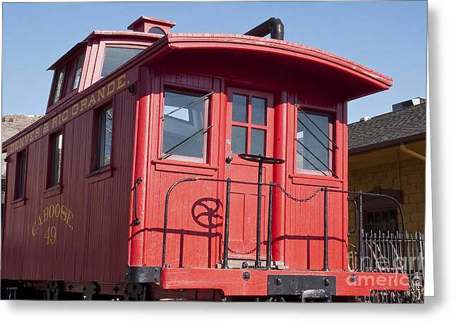 Caboose Photographs Greeting Cards - Colorado Denver and Rio Grande Caboose 49 Greeting Card by Catherine Fenner