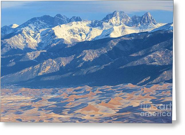 Large Sand Dunes Greeting Cards - Colorado Dune Landscape Greeting Card by Adam Jewell