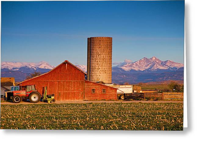 Meeker Greeting Cards - Colorado Farming Greeting Card by James BO  Insogna