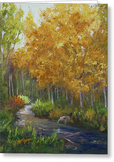 Colorado First Gold Greeting Card by Bev Finger