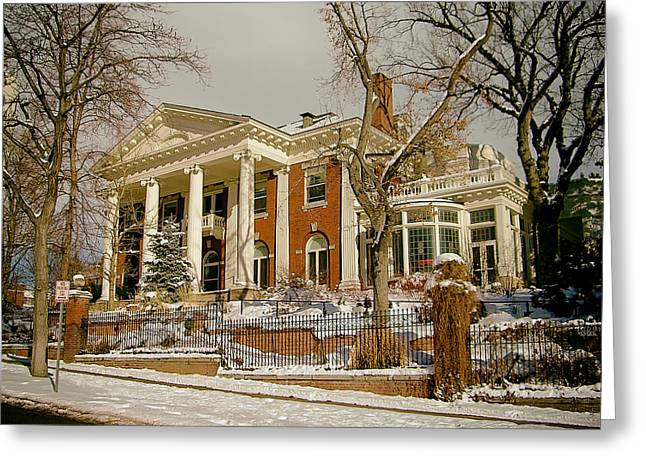 Historic Home Greeting Cards - Colorado Governors Mansion Greeting Card by Mountain Dreams