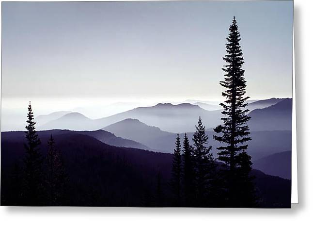 Colorado Haze Greeting Card by Adam Romanowicz