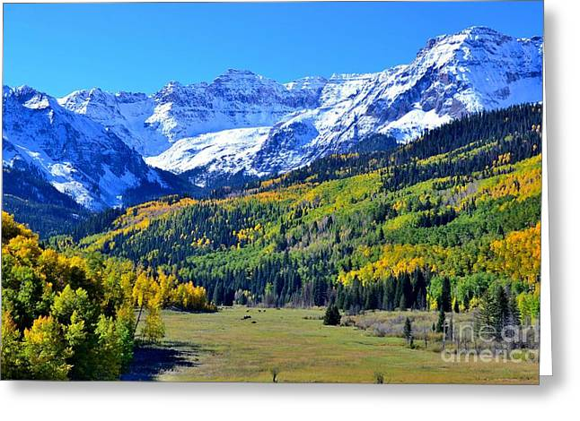 Snow-covered Landscape Greeting Cards - Colorado in the Fall Greeting Card by Jim Lambert