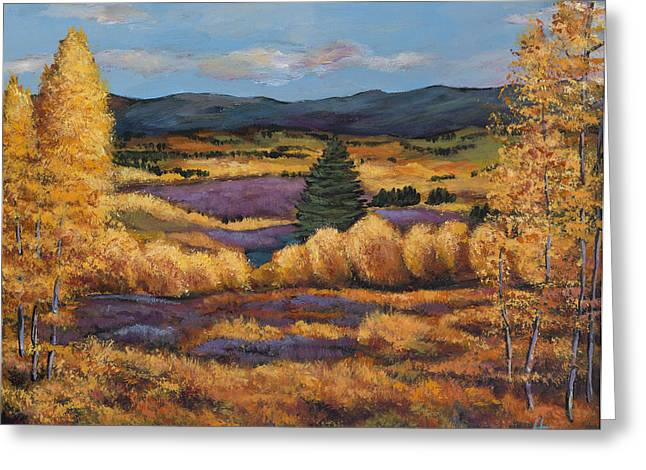 Autumn Landscape Paintings Greeting Cards - Colorado Greeting Card by Johnathan Harris