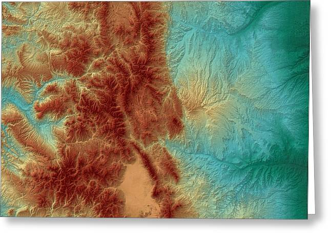 Geology Digital Art Greeting Cards - Colorado Map Art Greeting Card by Paul Hein