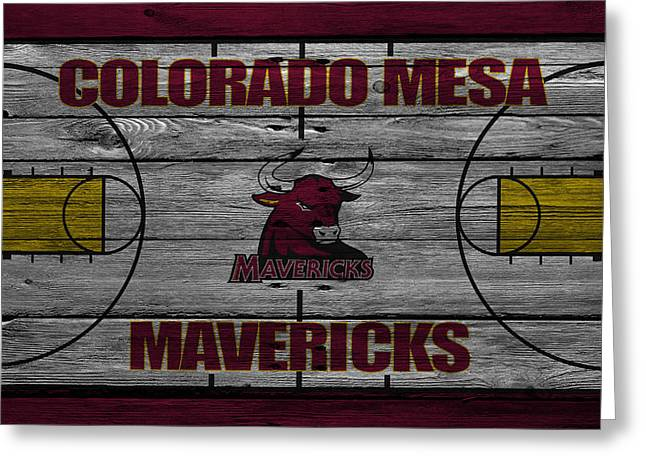 Colorado State University Greeting Cards - Colorado Mesa Mavericks Greeting Card by Joe Hamilton