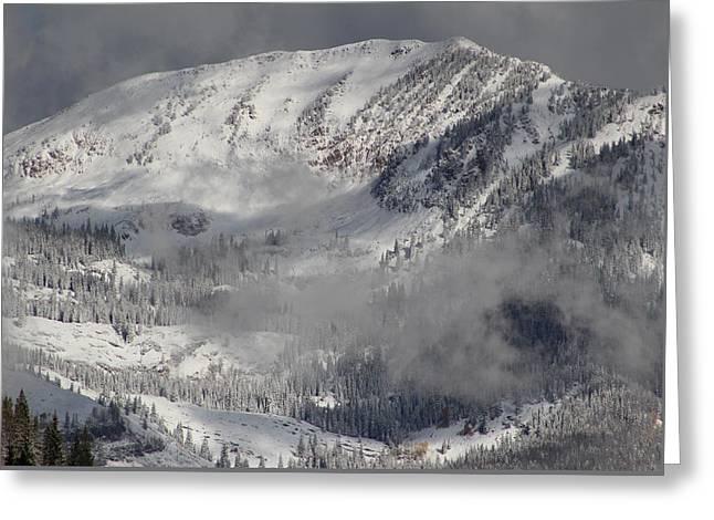 Ski Art Greeting Cards - Colorado Mountain High Greeting Card by Fiona Kennard