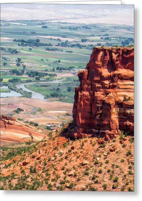 Colorado Plateau Greeting Cards - Colorado National Monument Grand Junction View Greeting Card by Christopher Arndt