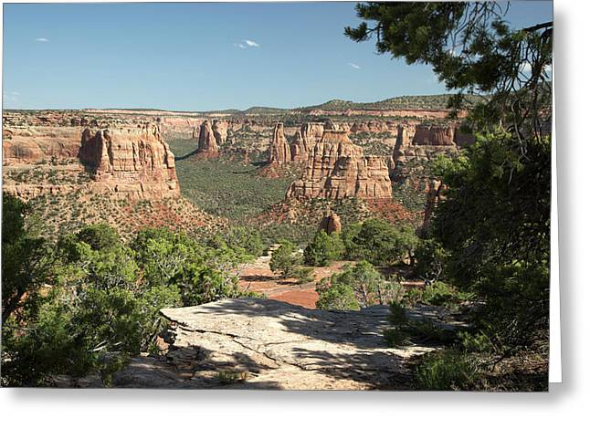 Colorado National Monument Greeting Card by Jim West
