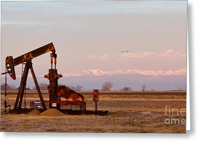Colorado Oil Well Panorama Greeting Card by James BO  Insogna