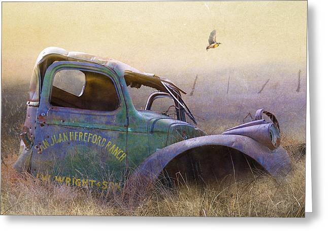 Old San Juan Mixed Media Greeting Cards - Colorado Old Truck Is Still A Fine Perch Greeting Card by R christopher Vest