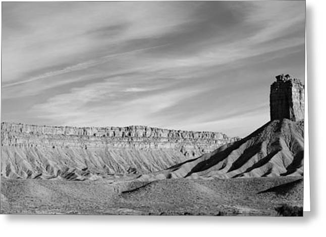 Elevation Digital Art Greeting Cards - Colorado Panorama I BW Greeting Card by David Gordon