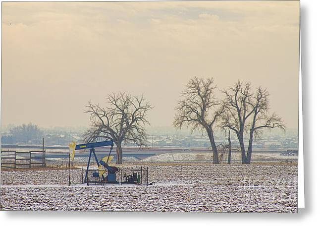 Beam Pump Greeting Cards - Colorado Pumpjack Greeting Card by James BO  Insogna