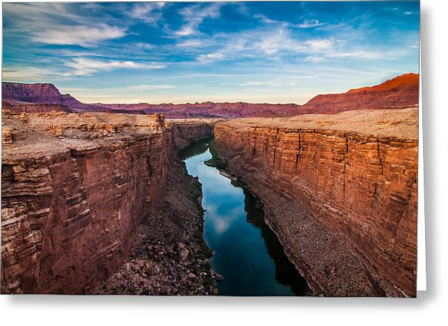 Cliff Lee Greeting Cards - Colorado River at Marble Canyon Greeting Card by Erica Hanks