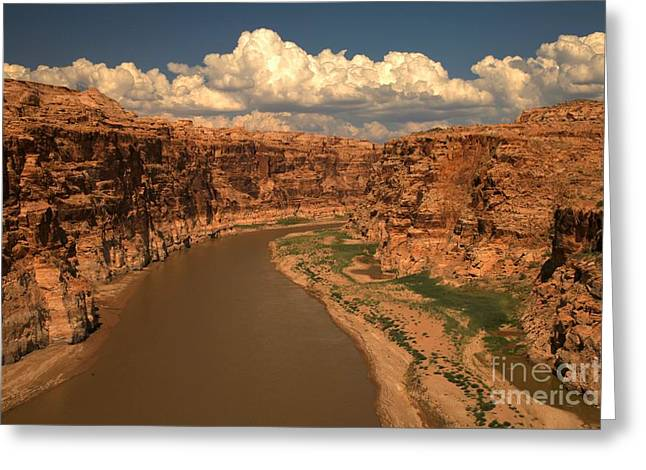 Clouds Over Canyon Greeting Cards - Colorado River Canyon Greeting Card by Adam Jewell