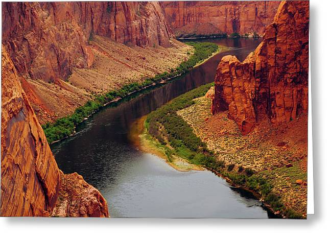 Colorado River From Page, Arizona Greeting Card by Michel Hersen
