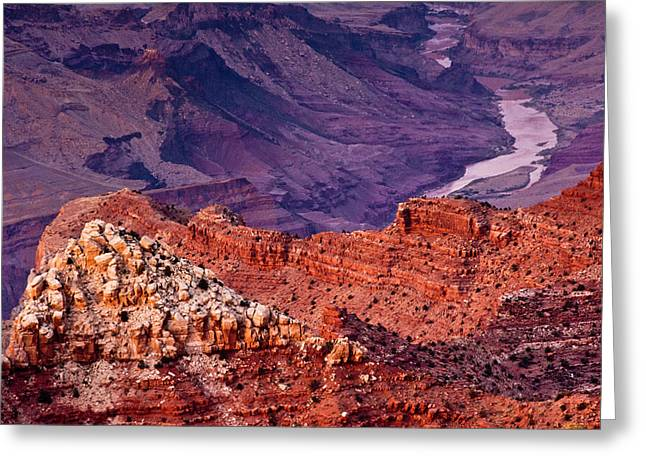 Colorado River, Lipan Point, South Rim Greeting Card by Michel Hersen