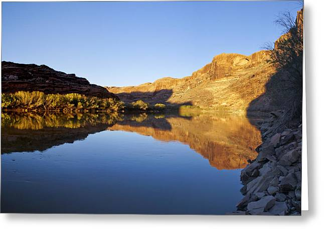 Slickrock Greeting Cards - Colorado River Reflection Greeting Card by Brian Kamprath