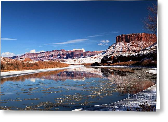 128 Greeting Cards - Colorado River Reflections Greeting Card by Adam Jewell