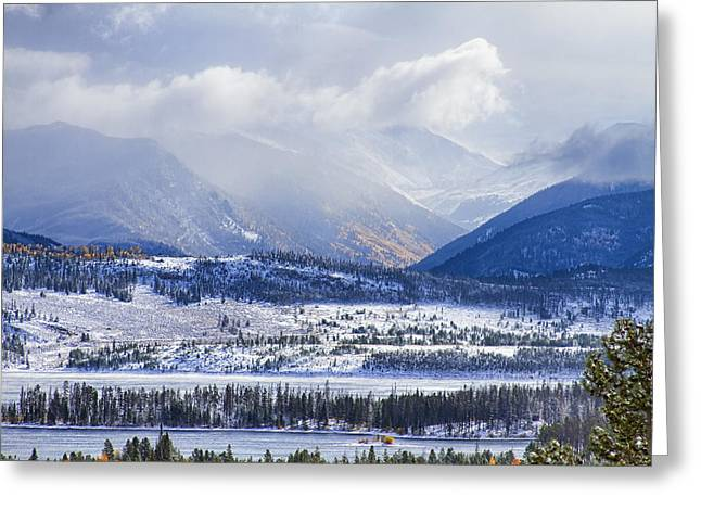 Snow Tree Prints Greeting Cards - Colorado Rocky Mountain Autumn Storm Greeting Card by James BO  Insogna
