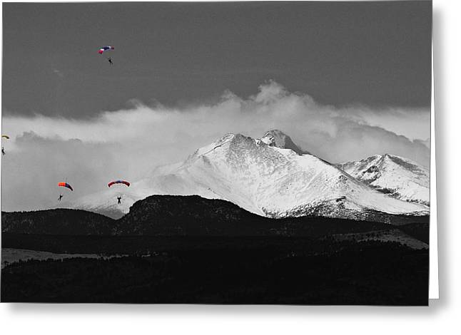 Snow Capped Greeting Cards - Colorado Rocky Mountain High Greeting Card by James BO  Insogna