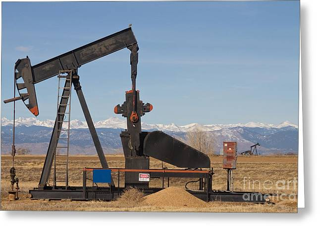 Colorado Mountain Prints Greeting Cards - Colorado Rocky Mountain Oil Wells Greeting Card by James BO  Insogna