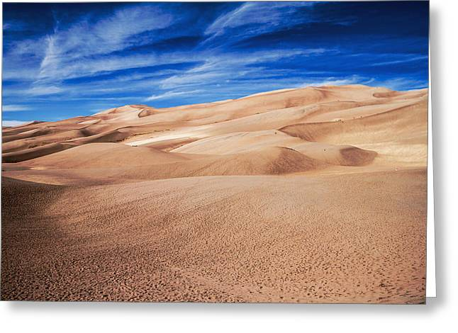 Sand Art Greeting Cards - Colorado Sand Dunes Greeting Card by Sean Ramsey