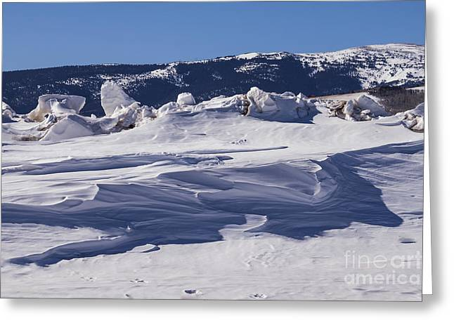 Smoothness Greeting Cards - Colorado Snow Art Greeting Card by Janice Rae Pariza