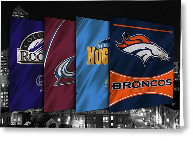 Broncos Photographs Greeting Cards - Colorado Sports Teams Greeting Card by Joe Hamilton
