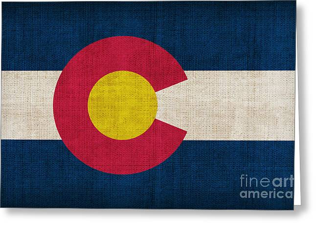 Pixel Chimp Greeting Cards - Colorado state flag Greeting Card by Pixel Chimp