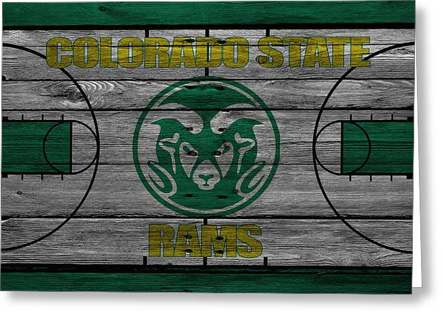 Colorado State University Greeting Cards - Colorado State Rams Greeting Card by Joe Hamilton