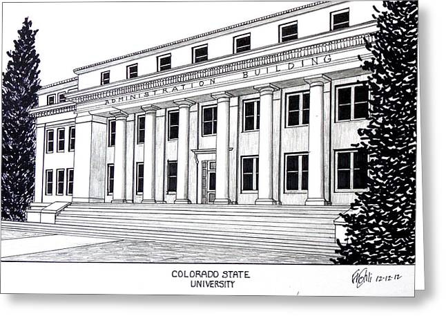 Colorado State University Greeting Cards - Colorado State University Greeting Card by Frederic Kohli