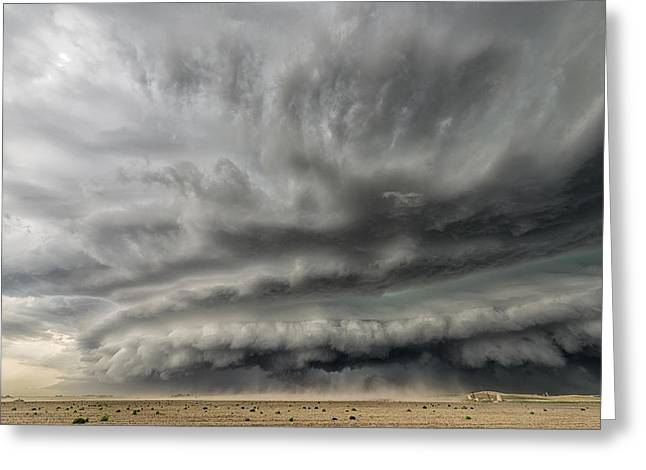 Supercell Greeting Cards - Colorado Steamroller Greeting Card by Shane Linke