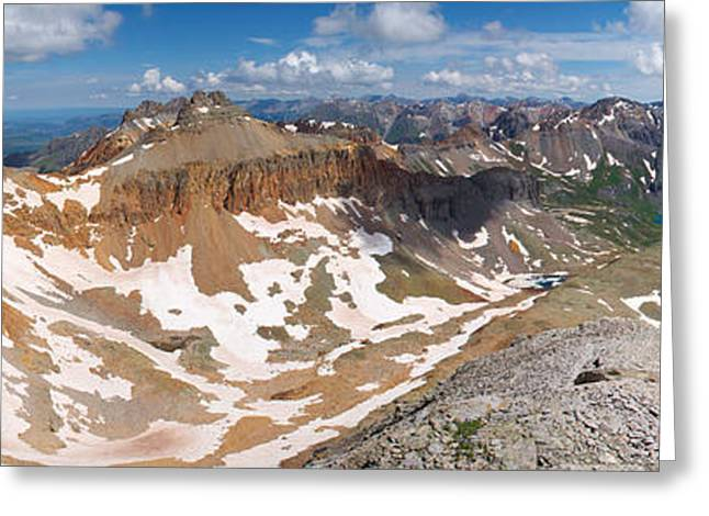 Colorado Summit Panorama - Fuller Peak  Greeting Card by Aaron Spong
