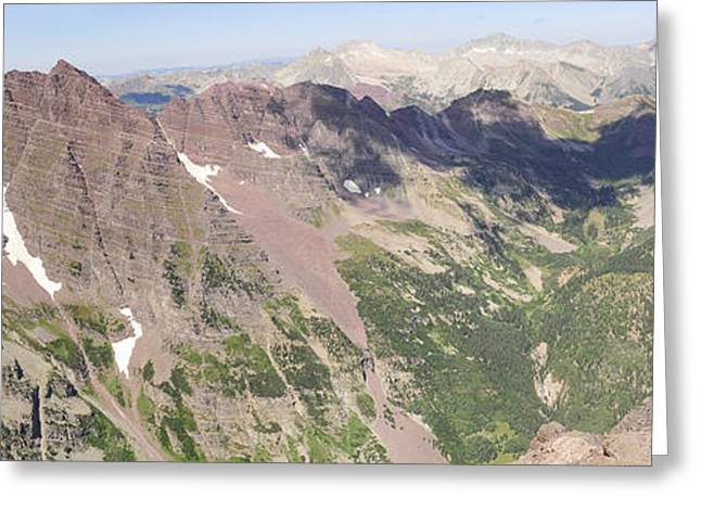 Diving Board Greeting Cards - Colorado Summit Panorama - Pyramid Peak Greeting Card by Aaron Spong