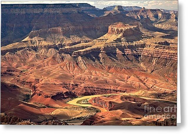 The Grand Canyon Greeting Cards - Colorado Through The Canyon Greeting Card by Adam Jewell