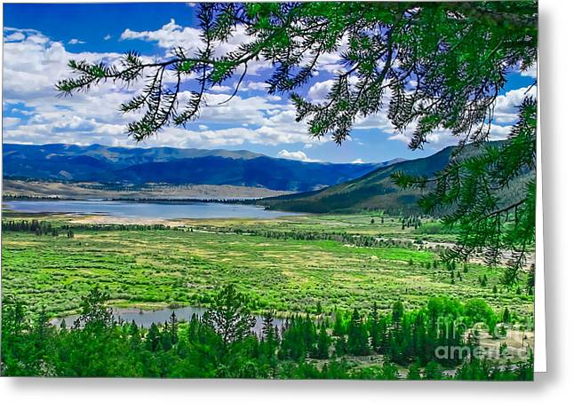 Recently Sold -  - Mountain Valley Greeting Cards - Colorado Twin Lakes Greeting Card by Tim Dahl