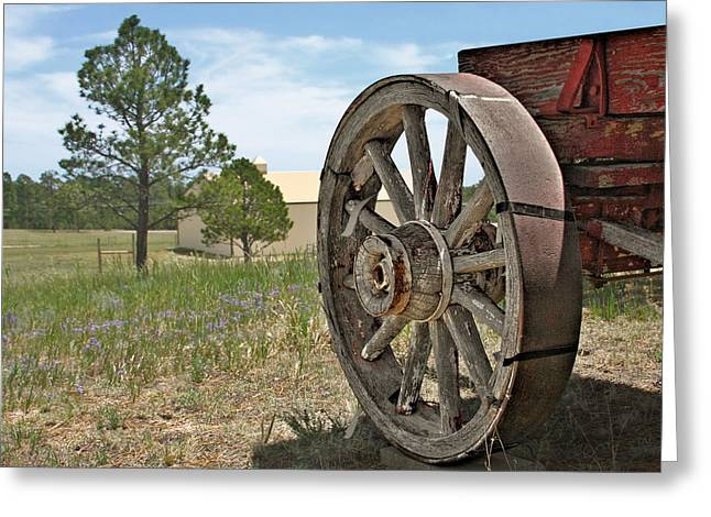 Wheels Greeting Cards - Colorado - Where the Columbines Grow Greeting Card by Christine Till