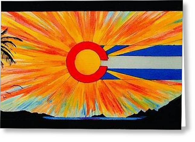 Segura Greeting Cards - Colorado wherever you are its always home Greeting Card by Randy Segura