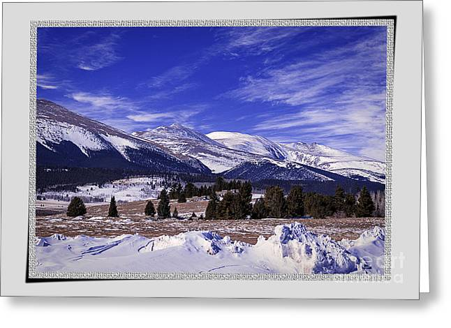 Wintry Greeting Cards - Colorado Winter Artwork Greeting Card by Janice Rae Pariza
