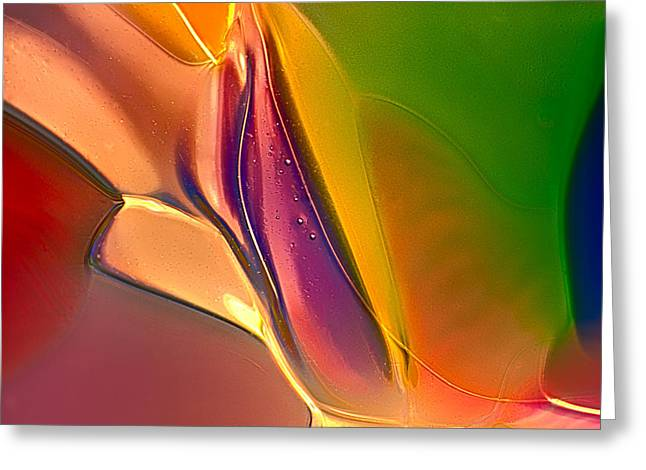 Shiny Glass Art Greeting Cards - Colored Arrows Greeting Card by Omaste Witkowski
