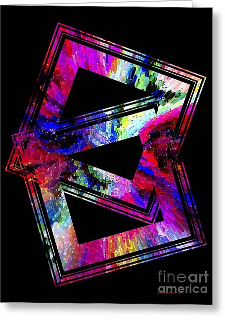 Transparency Geometric Greeting Cards - Colored Geometric Art Greeting Card by Mario  Perez
