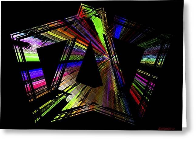 Transparency Greeting Cards - Colored Graphic Art Greeting Card by Mario  Perez