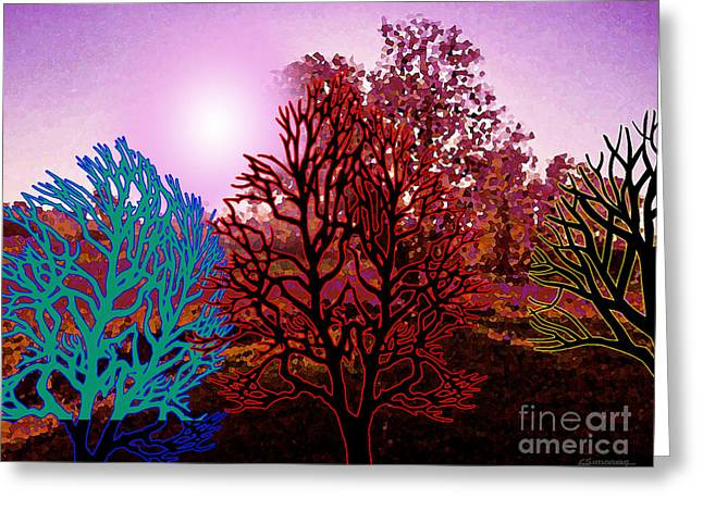 Lanscape Greeting Cards - Colored landscape 2 Greeting Card by Christian Simonian