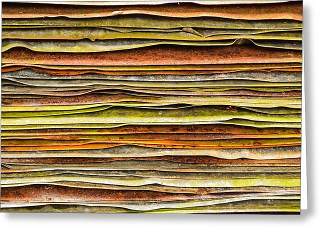 Stacks Framed Prints Greeting Cards - Colored Layers Greeting Card by Debbie Green