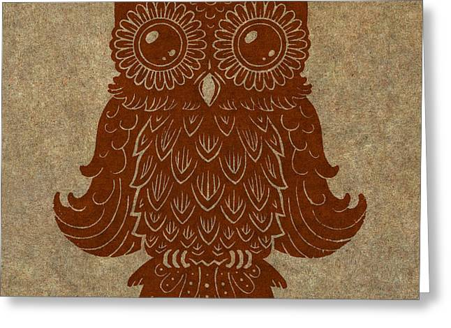 Colored Owl 2 of 4  Greeting Card by Kyle Wood