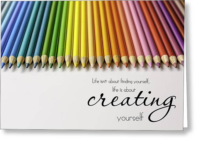 Creating Greeting Cards - Colored Pencil Rainbow Greeting Card by Teri Virbickis
